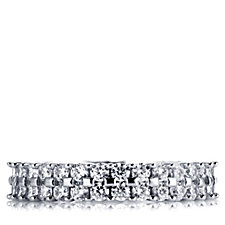 Diamonique 1.8ct tw Full Eternity Band Ring Sterling Silver