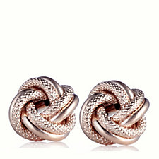 9ct Gold Textured Knot Earrings
