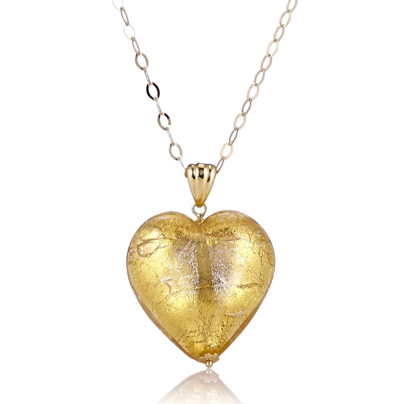 Best of heart pendant designs in gold jewellrys website murano glass heart pendant 60cm chain sterling silver page 1 mozeypictures Image collections