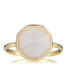 K by Kelly Hoppen Prism Cut Stackable Ring 18ct Vermeil Sterling Silver