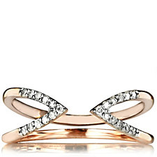 Lisa Snowdon Diamond Destiny Ring Rose Gold Vermeil Sterling Silver
