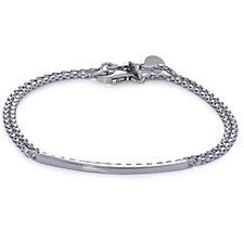 Bianca Platinum Plated Set of 2 19cm Bracelets Sterling Silver