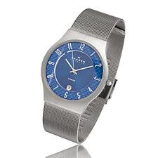 Skagen Gents Titanium Round Dial Mesh Strap Watch