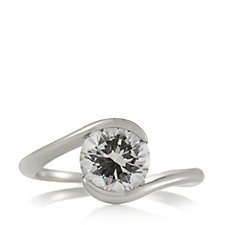 Diamonique 2.50ct tw Bypass Ring Sterling Silver