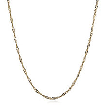Gold Gallery 9ct Gold 50 Gauge 50cm Twisted Curb Chain