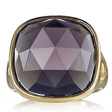 K by Kelly Hoppen Regal Facetted Ring 18ct Gold Plated Bronze