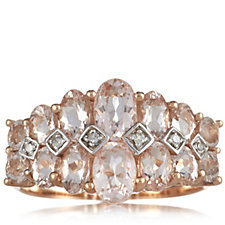 652922 - 2.50ct Morganite & Diamond Trellis Ring 9ct Rose Gold