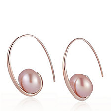 Honora 10-10.5mm Cultured Pearl Embrace Earrings Sterling Silver