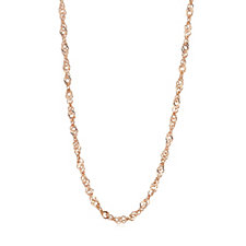 Gold Gallery 9ct Gold 20 Gauge 60cm Twisted Curb Chain