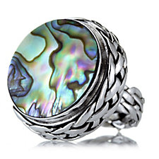 Suarti Collection Abalone Weave Ring Sterling Silver