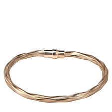Veronese Classic Twisted Magnetic 18cm Bracelet Sterling Silver