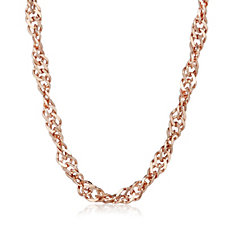Gold Gallery 9ct Gold 50 Gauge 60cm Twisted Curb Chain
