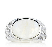 Moonstone Open Band Work Ring Sterling Silver - 608224