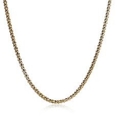 Veronese Diamond Cut Coreana 45cm Necklace Sterling Silver
