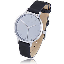 664926 - Skagan Ladies Mirror Dial Leather Strap Watch