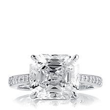 Michelle Mone for Diamonique 5.1ct tw Asscher Cut Ring Sterling Silver