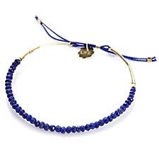Lapis Lazuli Friendship Bracelet 9ct Gold