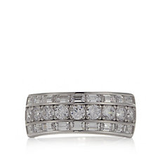 Epiphany Platinum Clad Diamonique 2.1ct tw Eternity Ring Sterling Silver