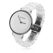Skagen Ladies Ditte White Ceramic Watch