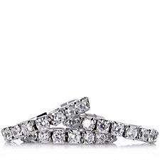Diamonique 6.3ct tw Set of 3 Stretch Rings Sterling Silver