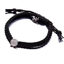 Skagen Crystal Black Cord Bracelet