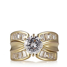Diamonique by Tova 4.16ct tw Ring Set Sterling Silver