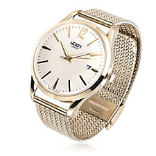 Henry London Large Dial Mesh Strap Watch