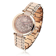Diamonique 2.4ct tw Pave Dial Watch Stainless Steel