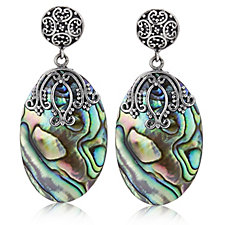 Suarti Paua Mother of Pearl Earrings Sterling Silver