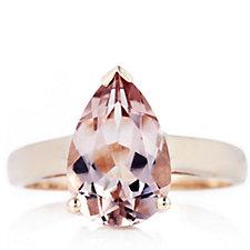 664332 - 2.1ct Morganite Empress Ring 9ct Gold