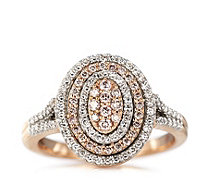 Embrace 0.5ct Diamond & Natural Pink Cocktail Ring 9ct Rose Gold - 664832