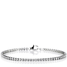 Diamonique 2.4ct - 3.1ct tw Everyday Fine Tennis Bracelet Sterling Silver