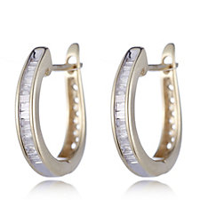 0.2ct Radiance Diamond Hoop Earrings 9ct Gold