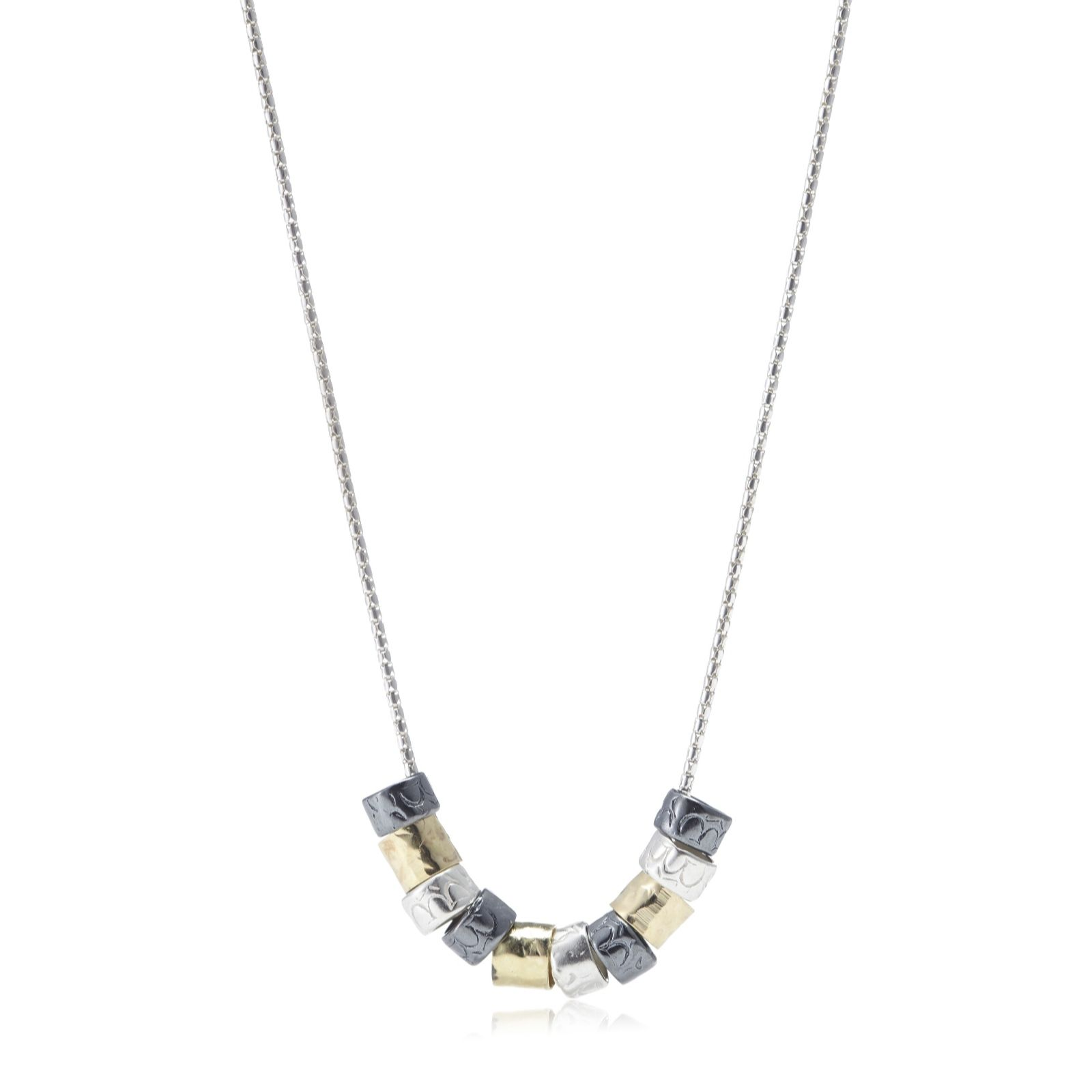 Or Paz Bead 45cm Necklace Sterling Silver
