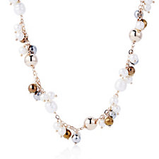 Honora 7.5-8.5mm Cultured Pearl Bead Clustered 45cm Necklace Bronze