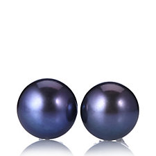 Honora 10-11mm Button Pearl Stud Earrings Sterling Silver