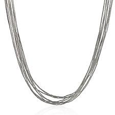 Nizhoni Liquid Silver 10 Strand Necklace Sterling Silver