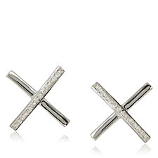 Lisa Snowdon Diamond Kiss Earrings Sterling Silver