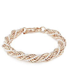 Honora Cultured Pearl Rope Twisted 19cm Bracelet Bronze