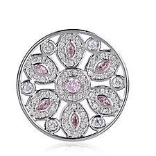 Emozioni Silver Plated Girasole Pink Small Coin Insert Brass