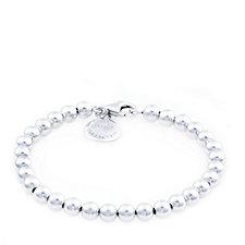 693037 - Bianca Platinum Plated Bead 19cm Bracelet Sterling Silver