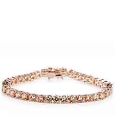 Diamonique 12.9ct tw Simulated Diamond Tennis Bracelet Sterling Silver