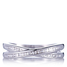 665638 - 0.1ct Diamond Half Eternity Embrace Ring 9ct Gold