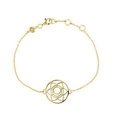 Daisy Chakra 18ct Gold Plated 18cm Bracelet Sterling Silver