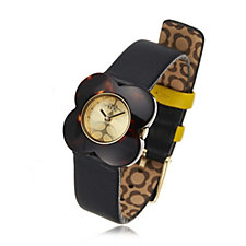 Orla Kiely Ladies Watch Poppy Leather Strap