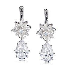 Diamonique by Tova 8.2ct tw Interchangeable Drop Earrings Sterling Silver