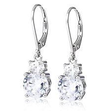 Diamonique 4.5ct tw Solitaire Drop Earrings Sterling Silver