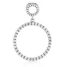 Diamonique Veronese 0.26ct tw Pendant Sterling Silver