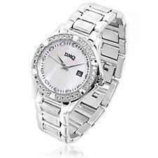 Diamonique 0.7ct tw Mother of Pearl Bracelet Watch By Alison