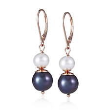 664841 - Honora Cultured Pearl Leverback Earrings Sterling Silver